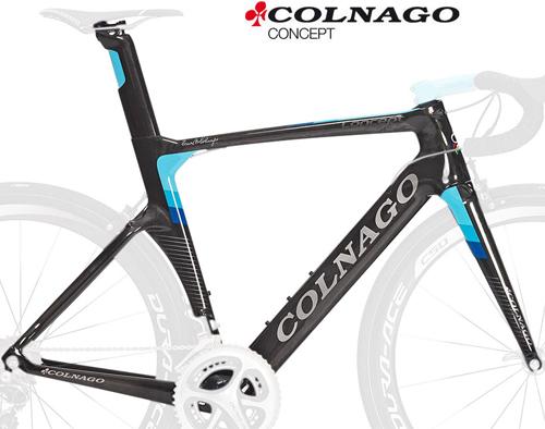 COLNAGO(コルナゴ)CONCEPT(コンセプト)カーボンフレームセット(CHLB / ブラック / ブルー)