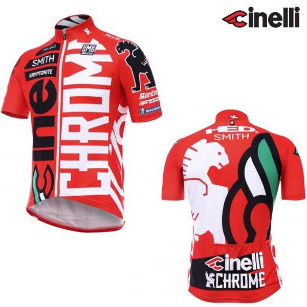 Cinelli(チネリ)Team Cinelli CHROME MILANO(チームチネリ クローム ミラノ)ジャージ(レッド)
