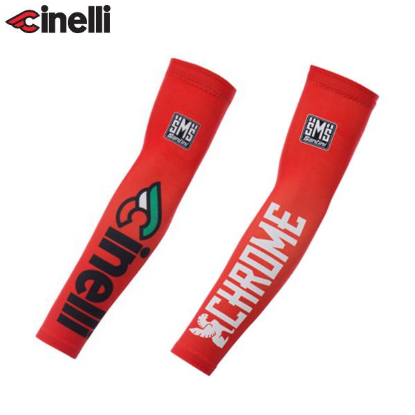 Cinelli(チネリ)TEAM Cinelli CHROME MILANO(チームチネリ クローム ミラノ)アームウォーマー(レッド)