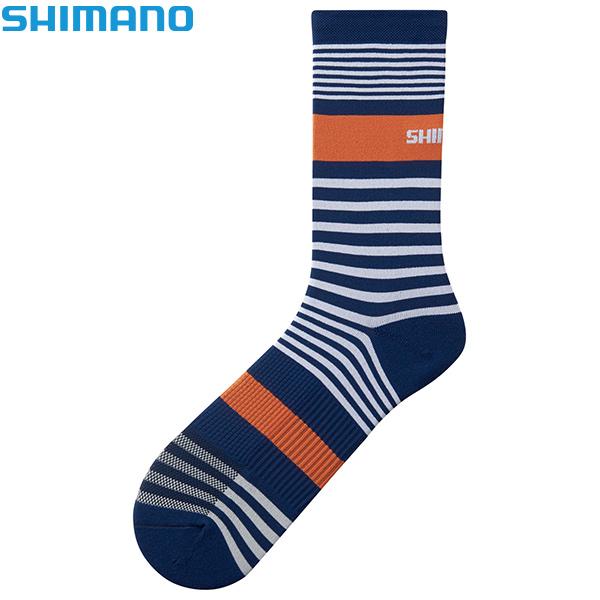 SHIMANO(シマノ)ORIGINAL TALL(オリジナル トール)ソックス(ネイビー / ホワイト / オレンジ)