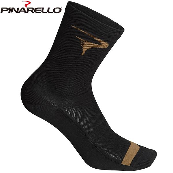 PINARELLO(ピナレロ)ロゴソックス(ブラック / ブラウン)