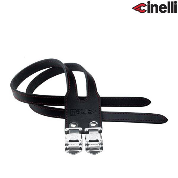 Cinelli(チネリ)DUO STRAPS(デュオ ストラップス)本革ダブルストラップ(ブラック)