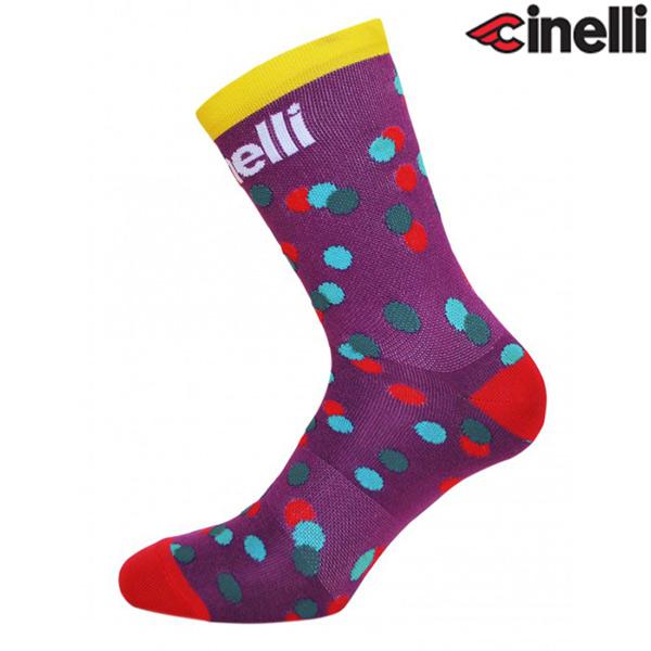 Cinelli(チネリ)CALEIDO DOTS(カレイド ドット)ソックス(パープル)
