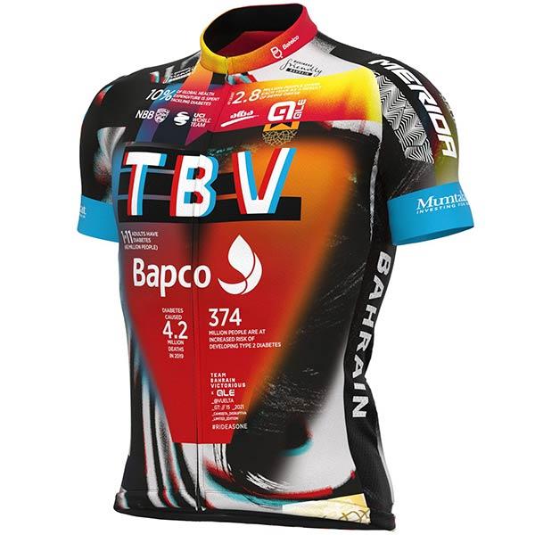 ALE(アレ)BAHRAIN Victorious(バーレーン ビクトリアス)レプリカジャージ(La Vuelta(ヴェルタ)/2021仕様)