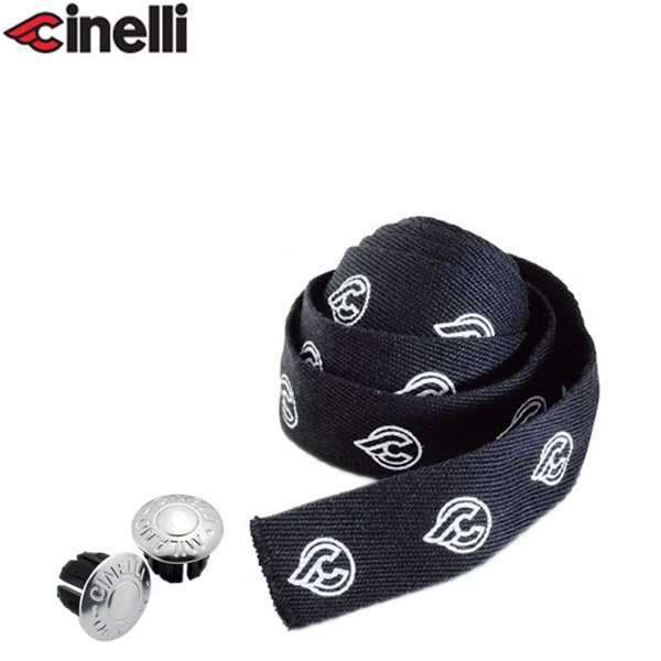 Cinelli(チネリ)COTTON GEL RIBBON(コットンジェルリボン)バーテープ(ブラック)