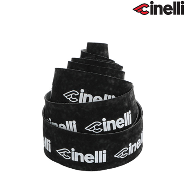 Cinelli(チネリ)LOGO VELVET RIBBON(ロゴ ベルベット リボン)バーテープ(ブラック)