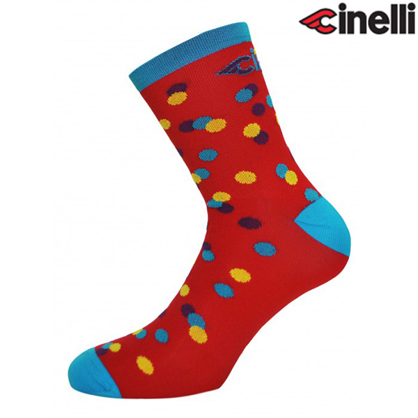 Cinelli(チネリ)CALEIDO DOTS(カレイド ドット)ソックス(レッド)
